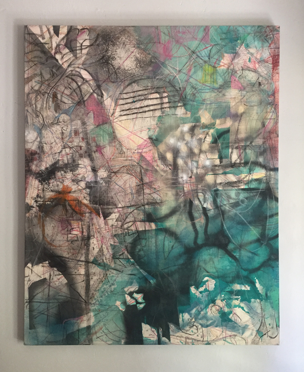 Memorial Drive  2015 Mixed-media on canvas 48 x 60 in.
