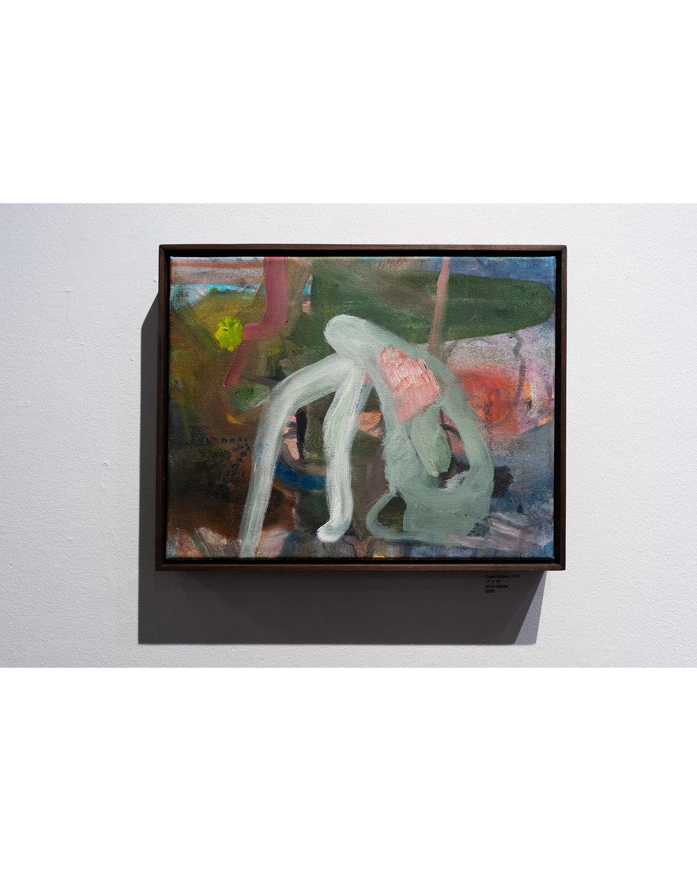 Crawl Ashore  2018 Oil on canvas 11 x 14 in.