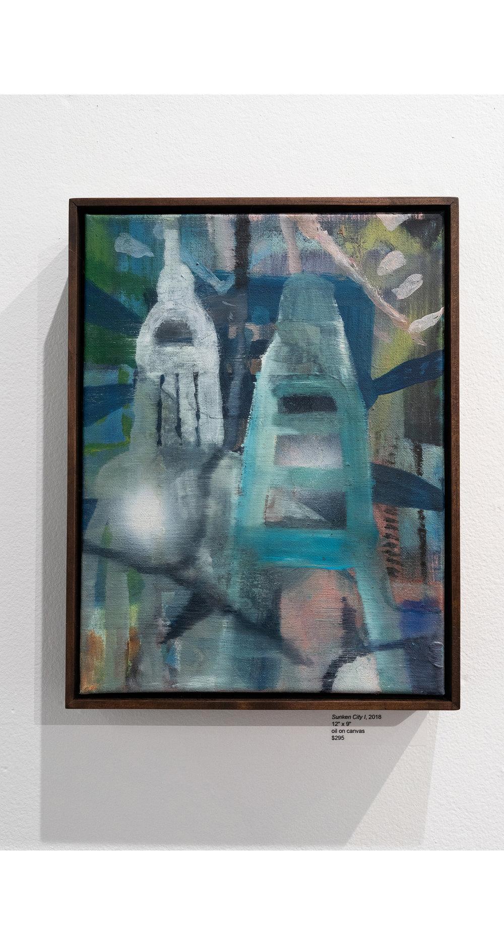 Sunken City  2018 Oil on canvas 9 x 12 in.