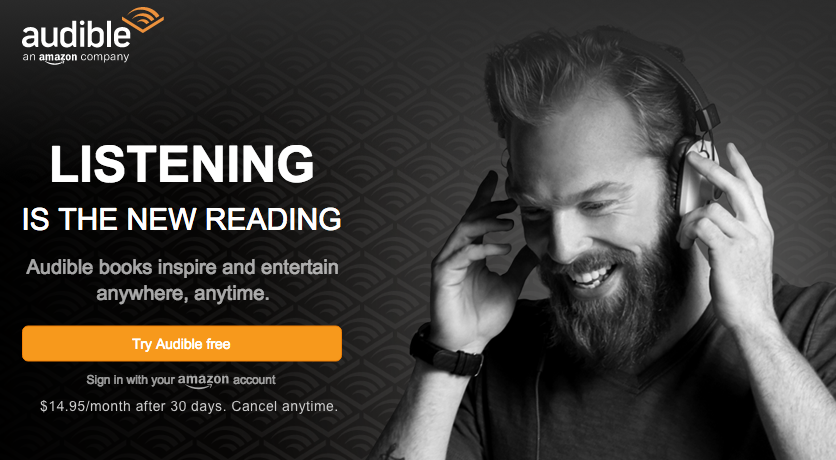 Audible free book trial