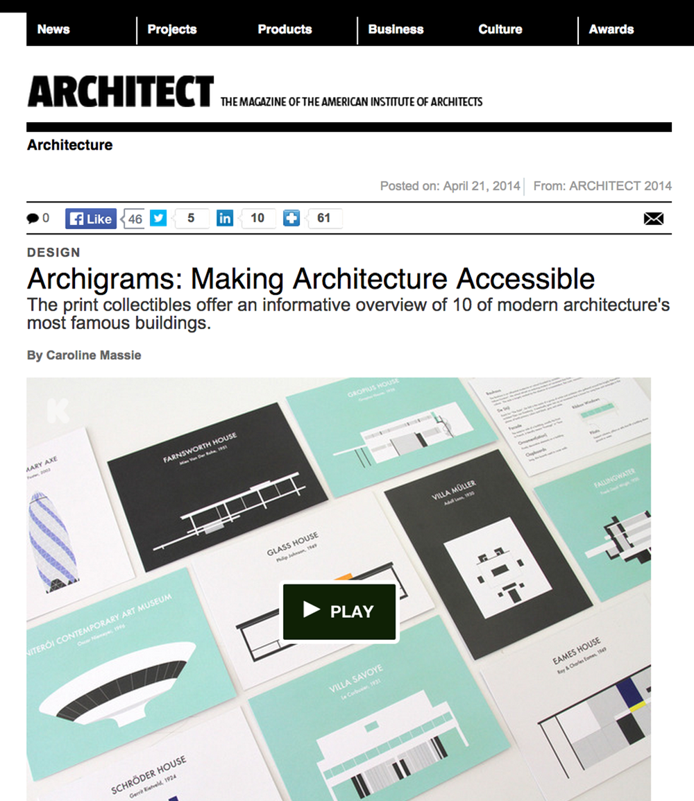 ARCHITECT MAGAZINE  by Caroline Massie