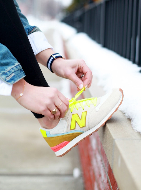 neon new balances for j. crew