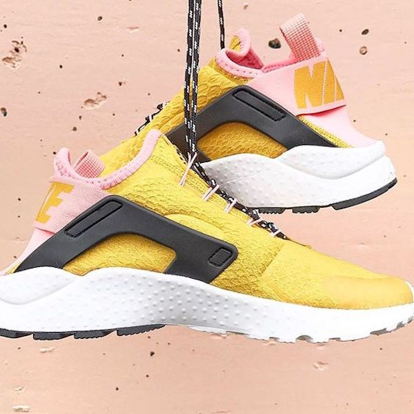 pink and yellow nike sneakers