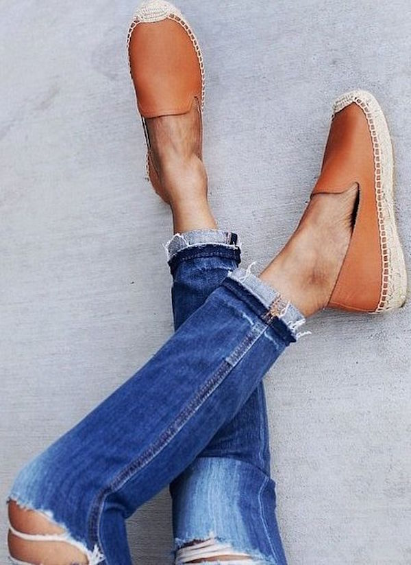 tan leather platform slip on soludos