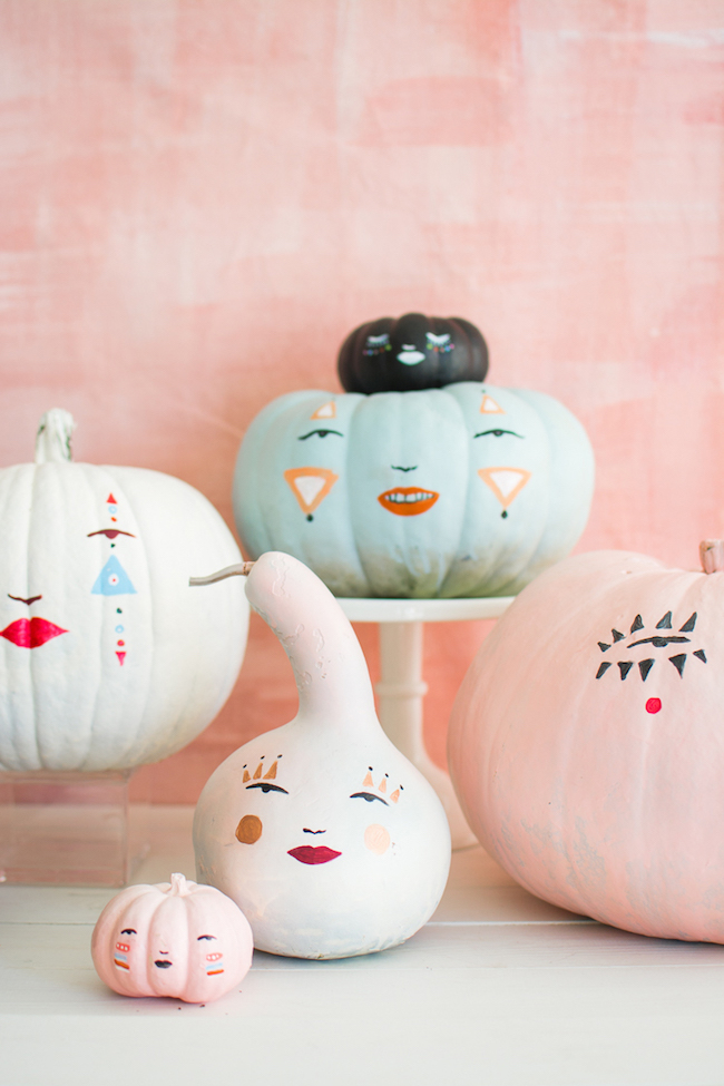 painted face pumpkins
