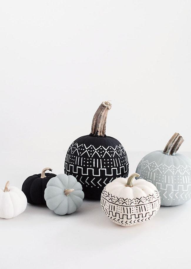 mudcloth pumpkins