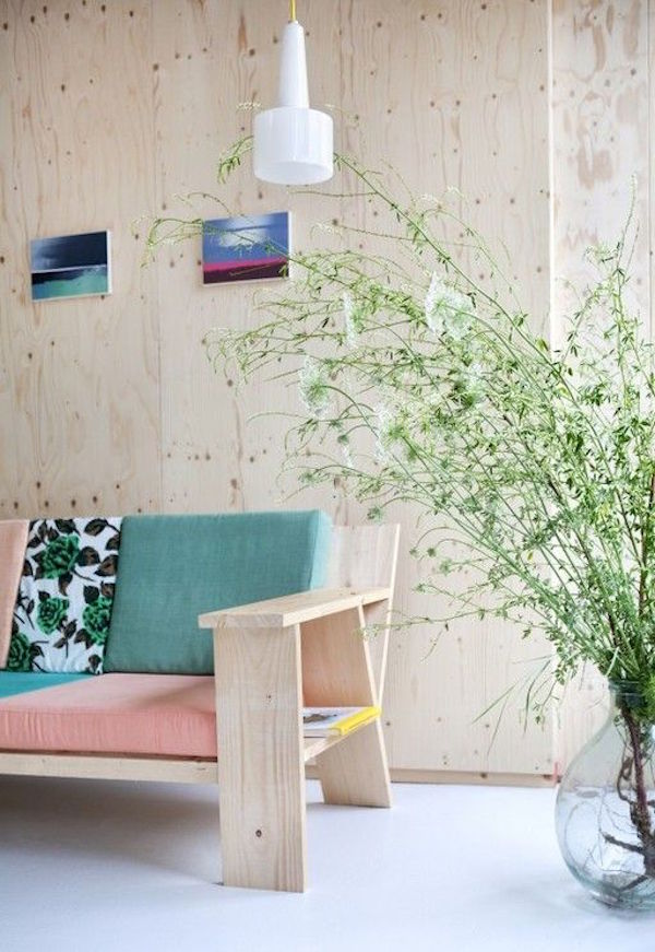 plywood walls and furniture