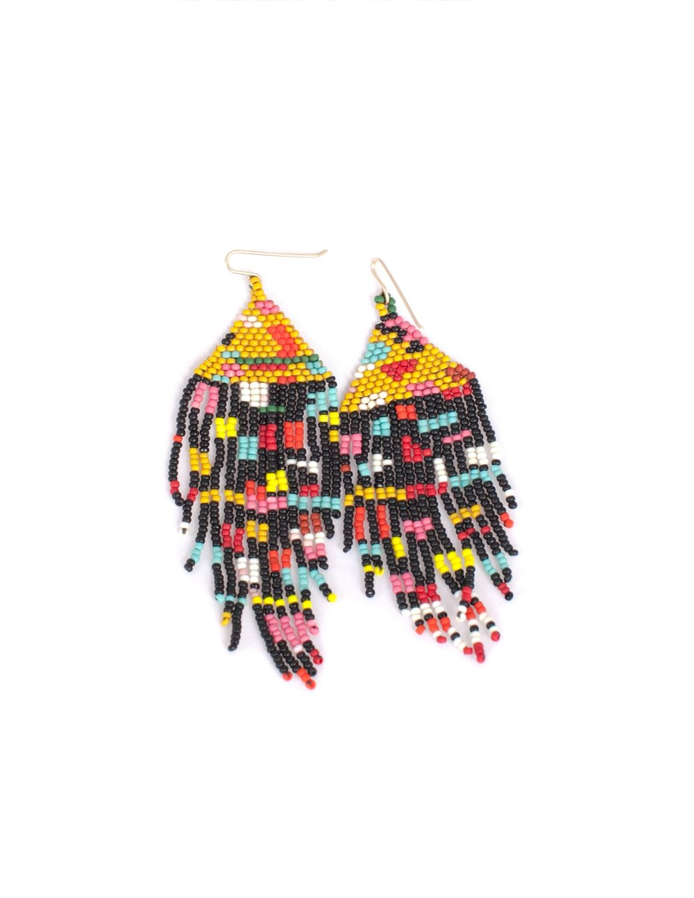salihah moore beaded earrings