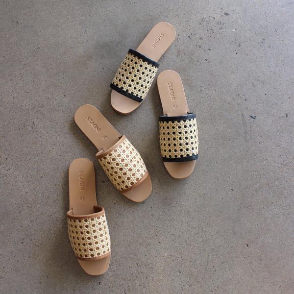 st. agni rattan slides woven slides