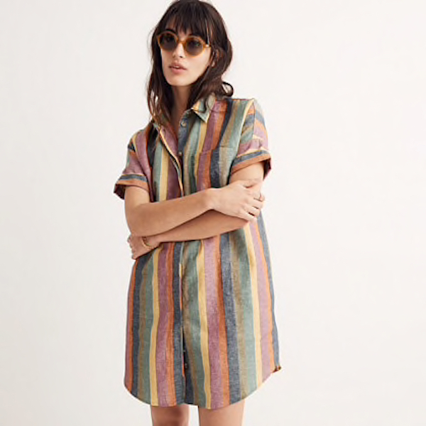 made well rainbow stripe dress