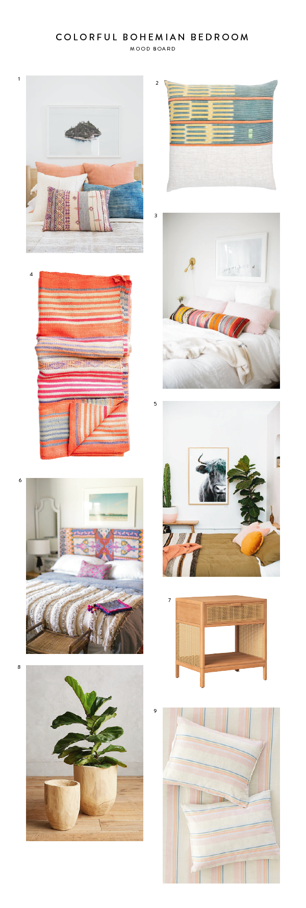 Mood Board: Colorful Bohemian Apartment