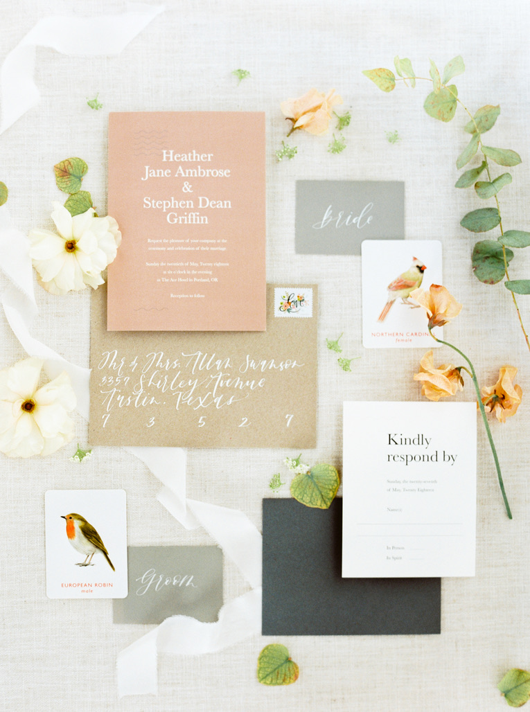 romantic modern wedding in austin, tx