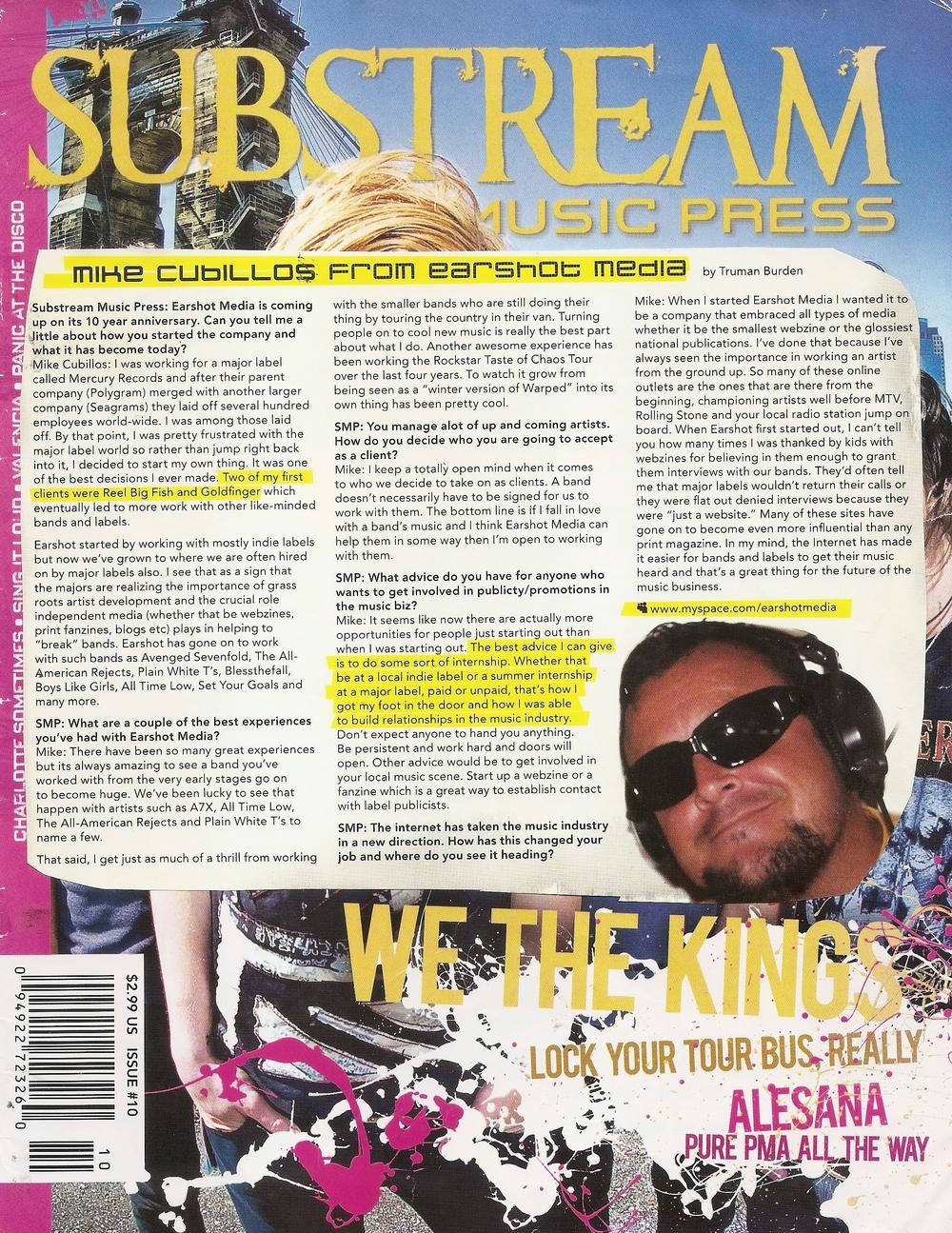 Earshot in Substream Magazine