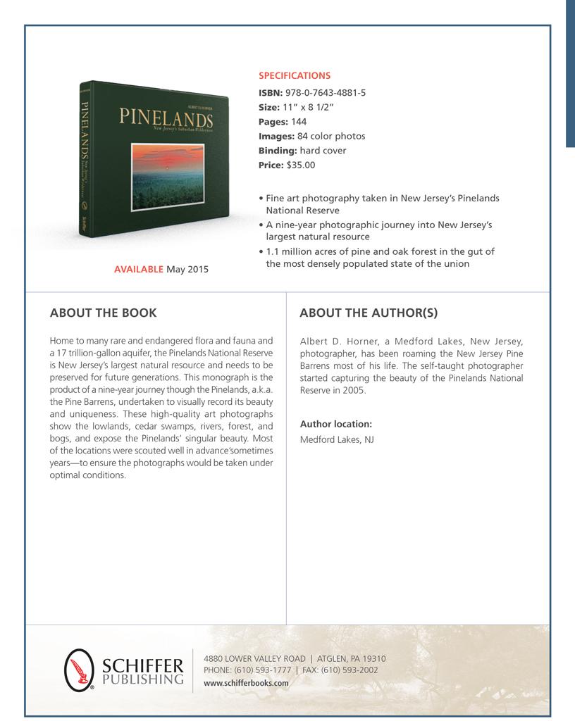 """Pinelands - New Jersey's Suburban Wilderness"""