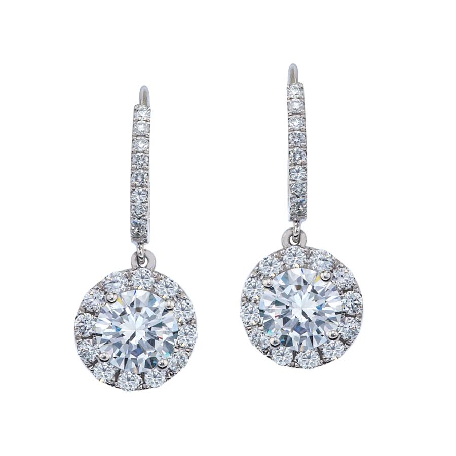 Micro Pave diamond earrings
