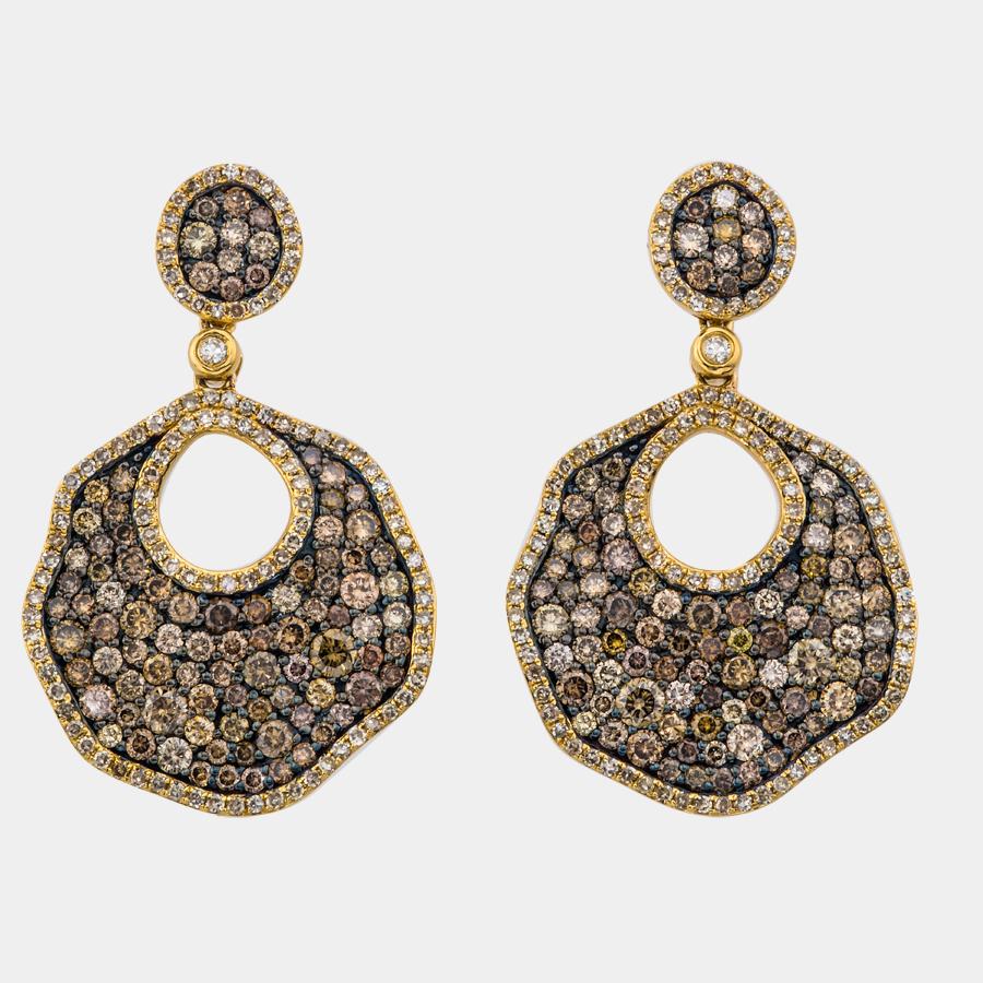 Fancy chocolate diamond earrings