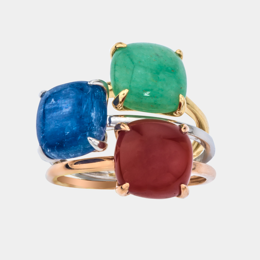 Stackable cabochon rings