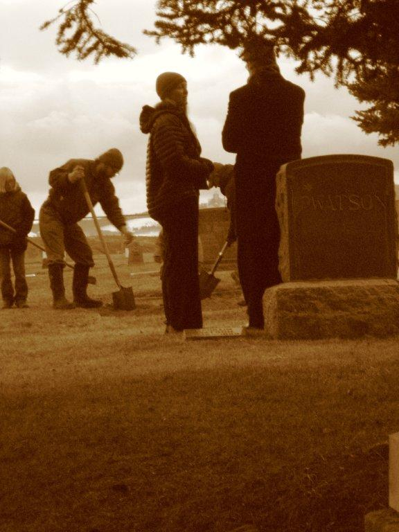 At Laketown Cemetery, December 4, 2014