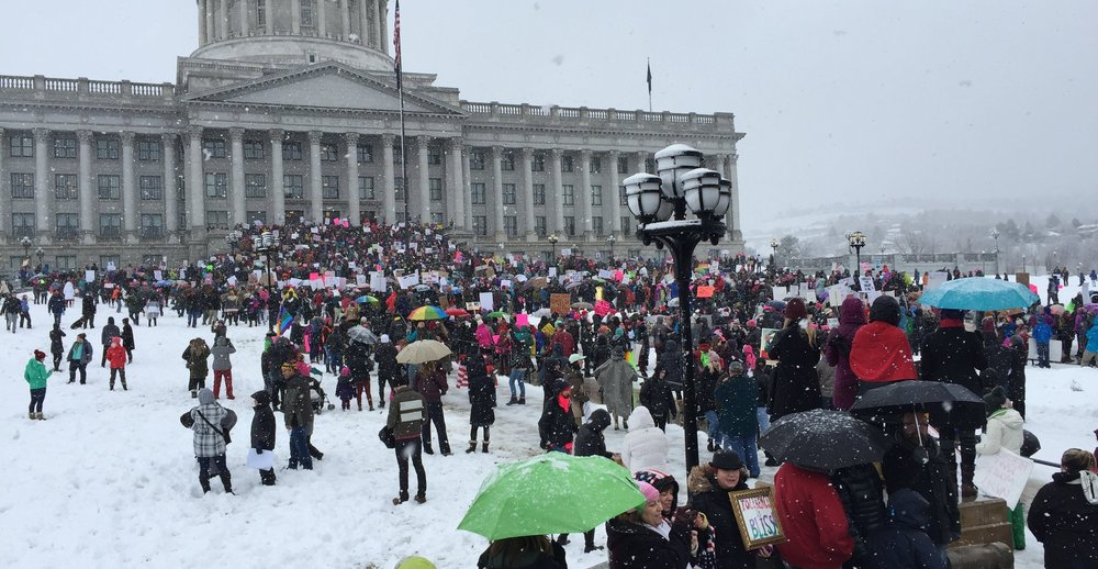 Rally at the Utah State Capital on the opening day of the Utah Legistlarue, January 20, 2017
