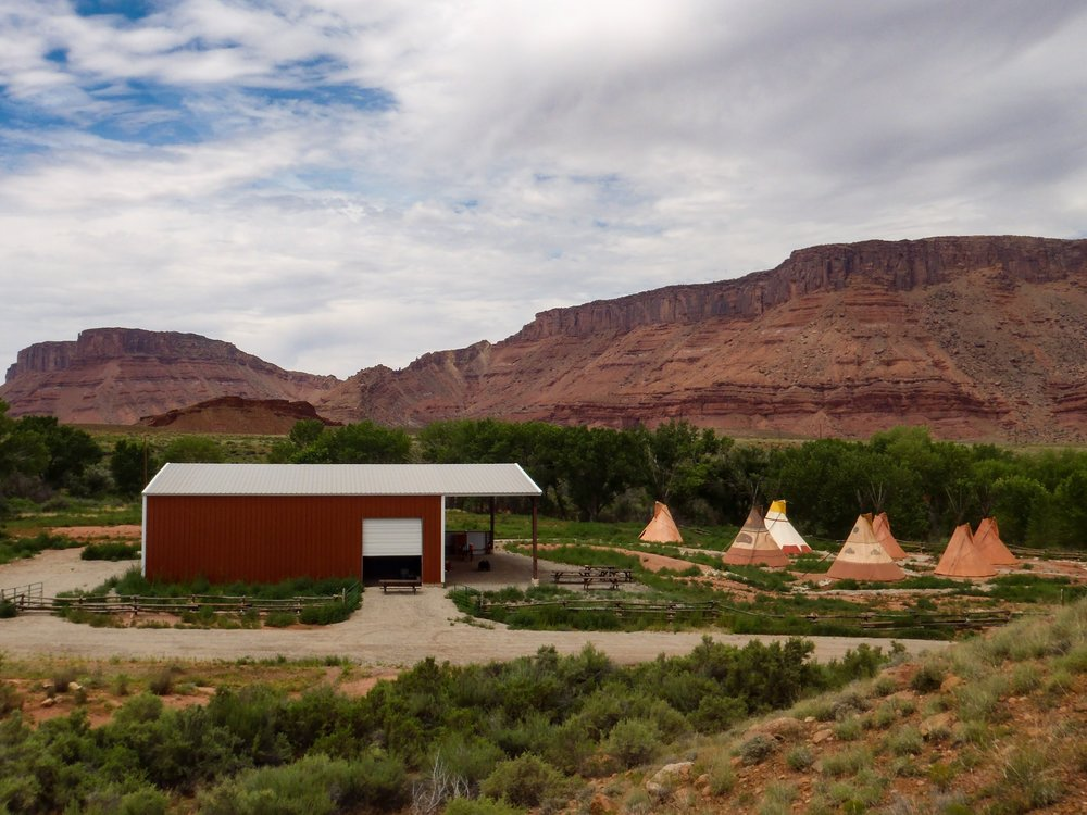 Canyonland Field Institute's Field Camp, in Professor Valley, east of Moab.