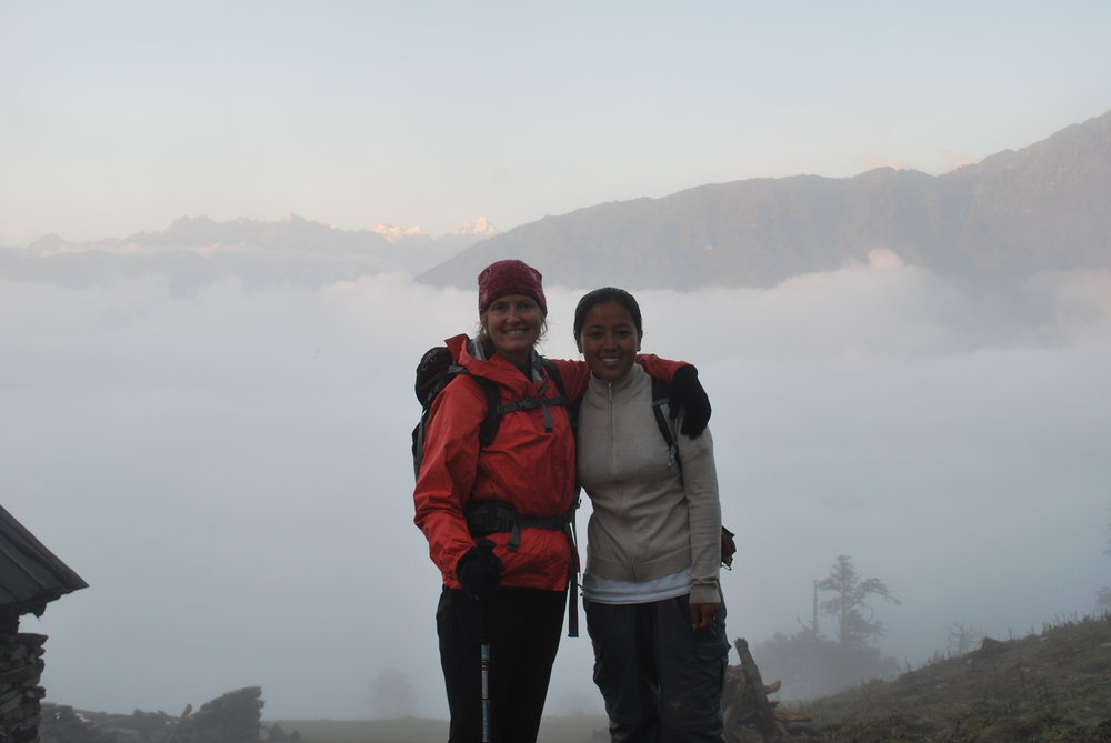 Kinde and Sonam Sherpa, 2011.