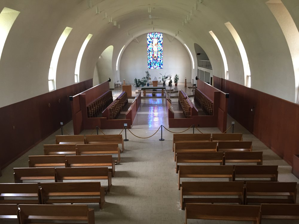 Quonset hut made good — the chapel at Our Lady of the Holy Trinity Abbey