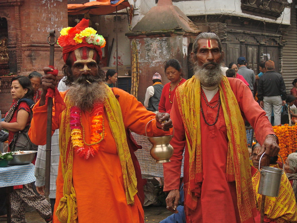 Hindu sadhus in Kathmandu. Photo by Amy Hahn