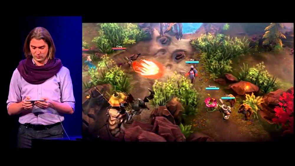 The 2014 Apple iPhone 6 keynote featuring Vainglory running on Metal