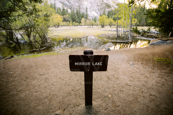 Mirror Lake in Yosemite National Park, CA. You can see here where the lake used to be.