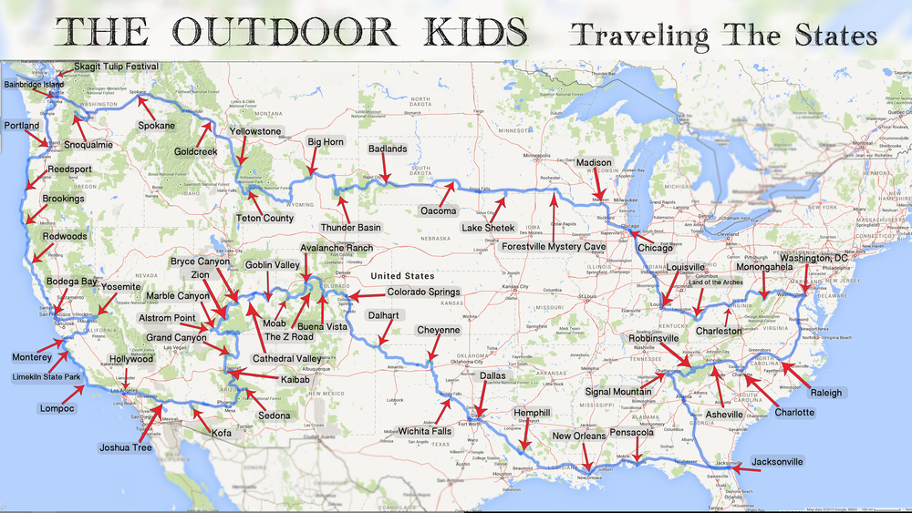 The Outdoor Kids Traveling The States