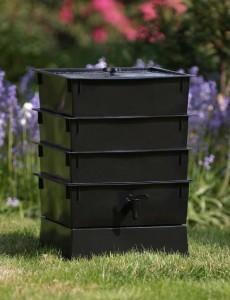 a commercial worm bin