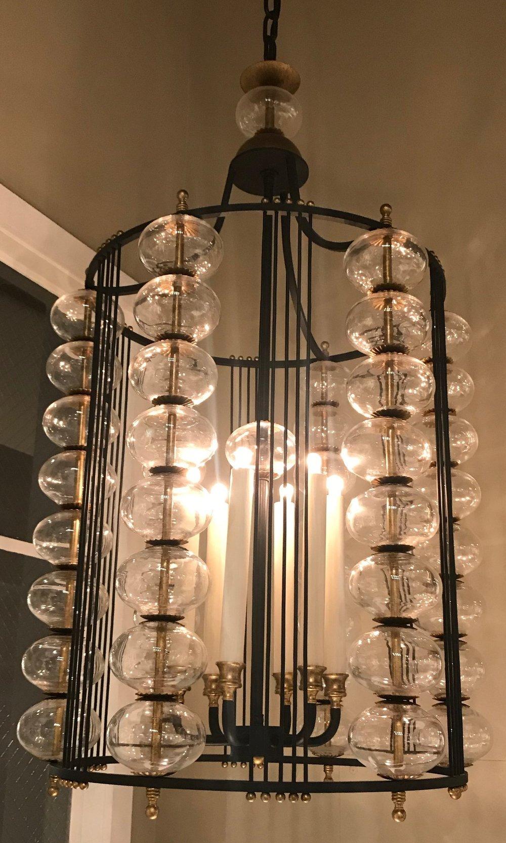 Beautiful Paul Ferrante chandelier, at Hewn