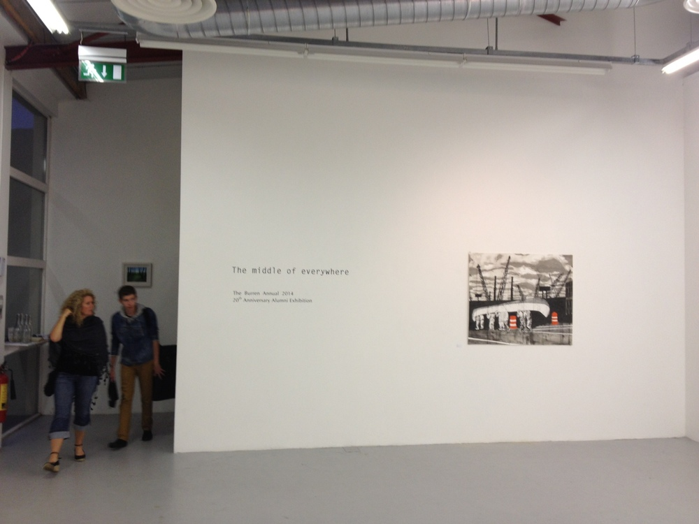 """Thanks Mick O'Dea for sending this photo from the opening of """"The middle of everywhere"""" at the Burren College of Art, Ireland. It really made me miss being in Ireland."""