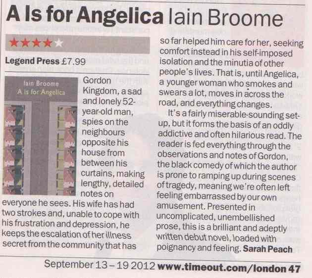 A is for Angelica reviewed in Time Out