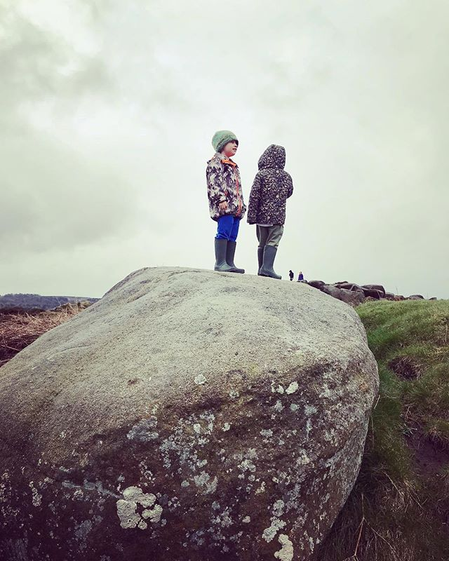 Two boys. One rock. #theoutdoorcity