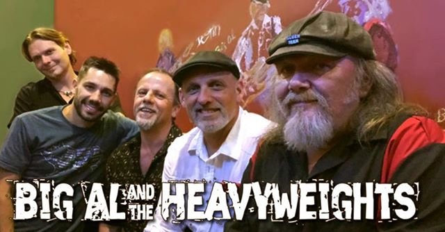 For the first time at @mvpgrill all the way from New Orleans to help kick off St Patties Day weekend... Big Al & The Heavyweights! Extended #happyhour till 8PM! @marchmadness on the tv's as well as $6 Miller High Life Buckets, $4 Well Cocktails & Wine & $2.50 Domestic Drafts!