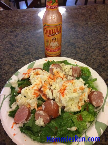 Breakfast Salad with Cholula