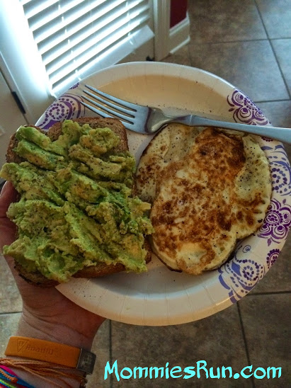 avocado toast and eggs