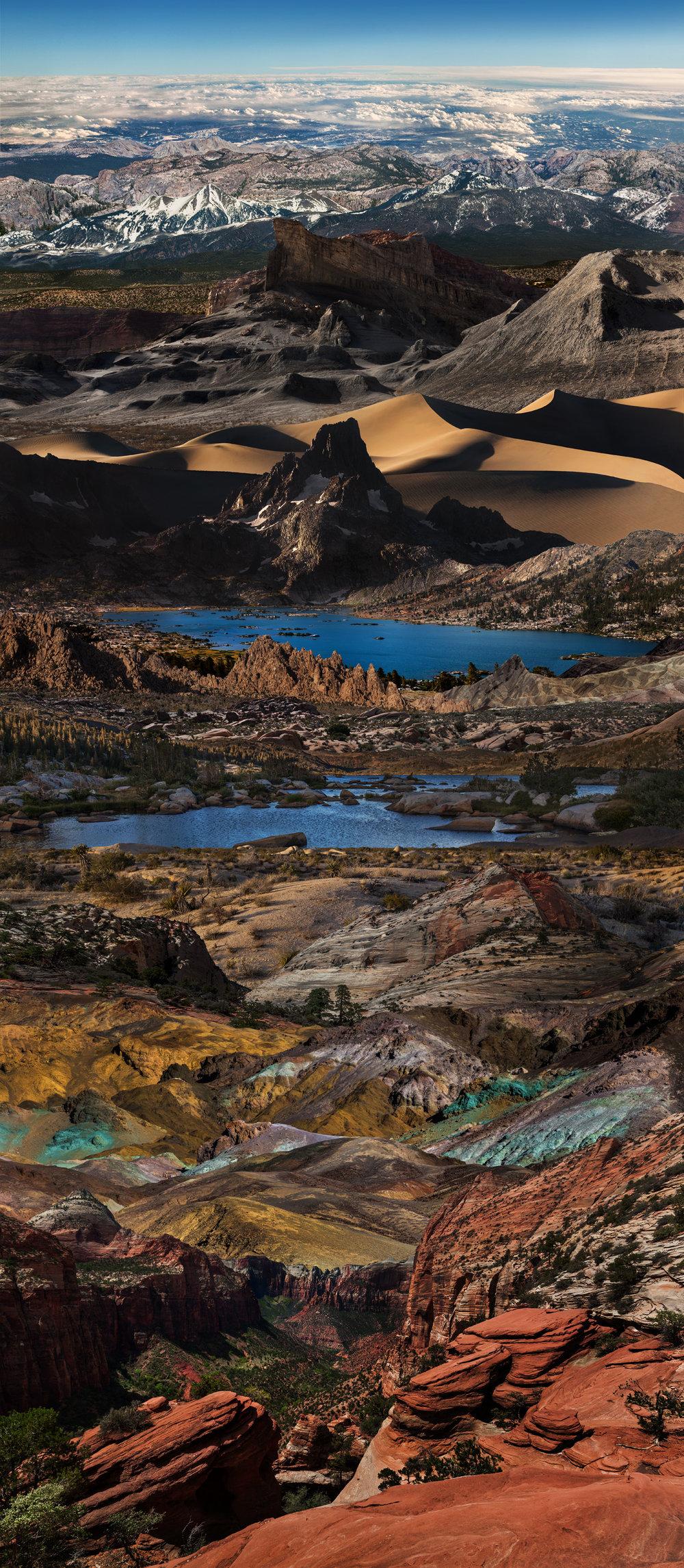 """Horizons VI"", digital photo collage, 20""x46"", 2018"
