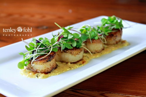 """Seeing the Valley through Tenley Fohl's lens"" -- Santa Ynez Valley News article by Mary Ann Norbom.  Tenley Fohl's plated scallops food photo lands on the cover of National Geographic's book, ""Abroad at Home""."