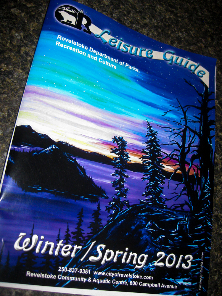 front cover artist for the revelstoke leisure guide 2013.jpg