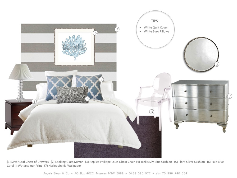 Coastal Bedroom Scheme