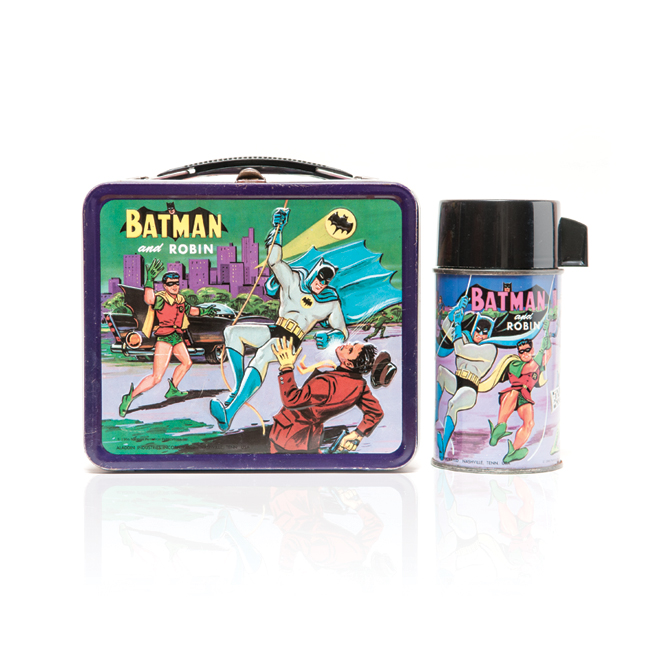 1966 Batman and Robin Lunchbox Set