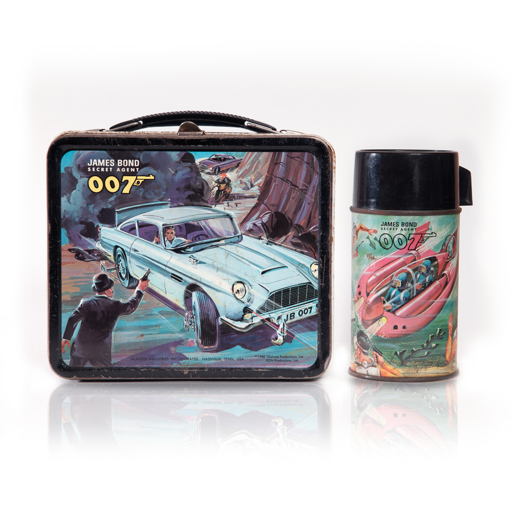 james bond 007 lunch box 1966