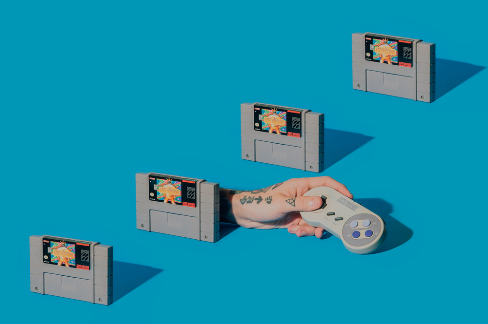 product photography snes earthbound nintendo