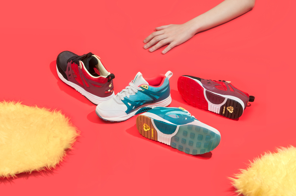 sneaker product photography reebok