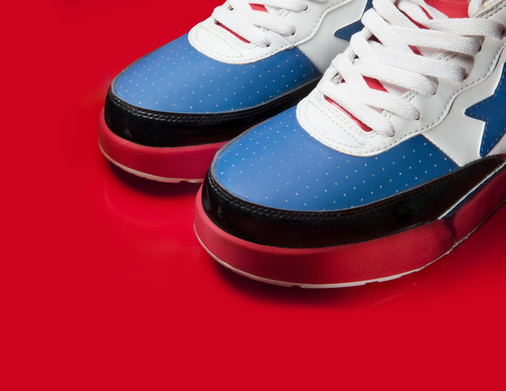 sneaker product photography bapesta