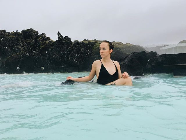 Did you even pay $150 dollars to go to Blue Lagoon if you didn't carry your cellphone through shoulder deep water and pose on the sharp rocks for a photo? Didn't think so.