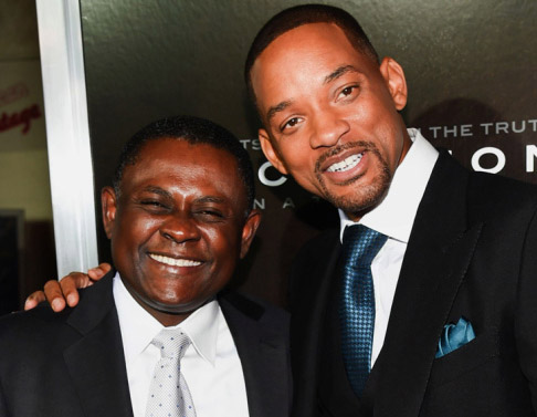 The real Dr Omalu, portrayed by Will Smith in the movie Concussion.