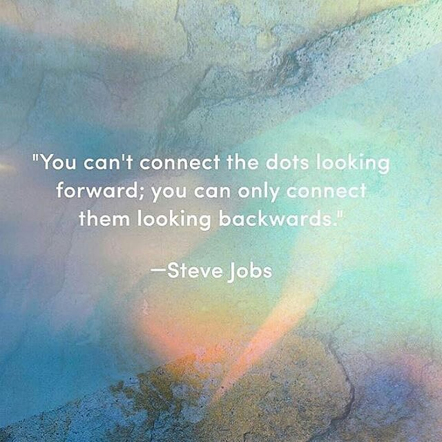 "@Regrann from @shannonkaiserwrites - ""You can't connect the dots looking forward. You can only connect them looking back"" Steve Jobs  Photo @mindbodygreen #lifequotes #inspiration #design . . . . . . #momprep #motherhood #momlife #expecting #pregnant #newmom #dadlife #parenthood #parenting #toddlers #teenmom #ttcsisters #bump #bumplife #39weeks #9months #4thtrimester #birthcenter #surrogacy #ivfsuccess"